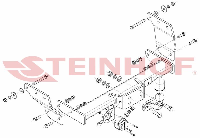 Vetokoukku STEINHOF STF-294 Ford Transit '00-