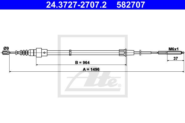 Käsijarruvaijeri ATE 24.3727-2707.2