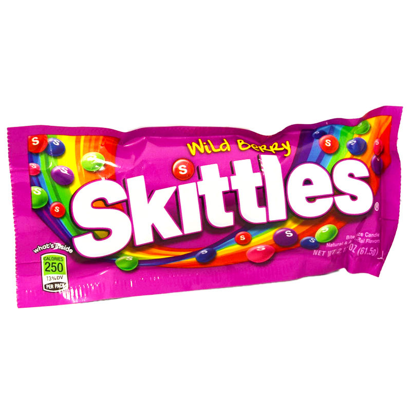 """Skittles """"Wild Berry"""" 61,5g - 70% rabatt"""