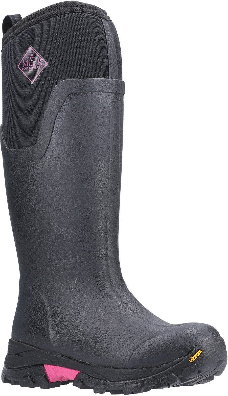 Muck Boots Unisex Arctic Ice Tall Extreme Conditions Boot Various Colours 26031 - Black/Hot Pink 3