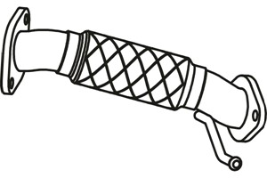 Pakoputki, Edessä, HYUNDAI ix35, KIA SPORTAGE, 28610-2Y700