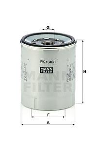Polttoainesuodatin MANN-FILTER WK 1040/1 x