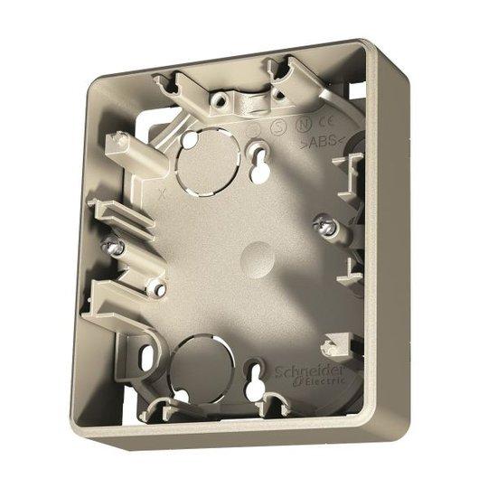 Schneider Electric Exxact Korotuskehys 2-osaisille pistorasioille, joissa on peitelevy Metallic