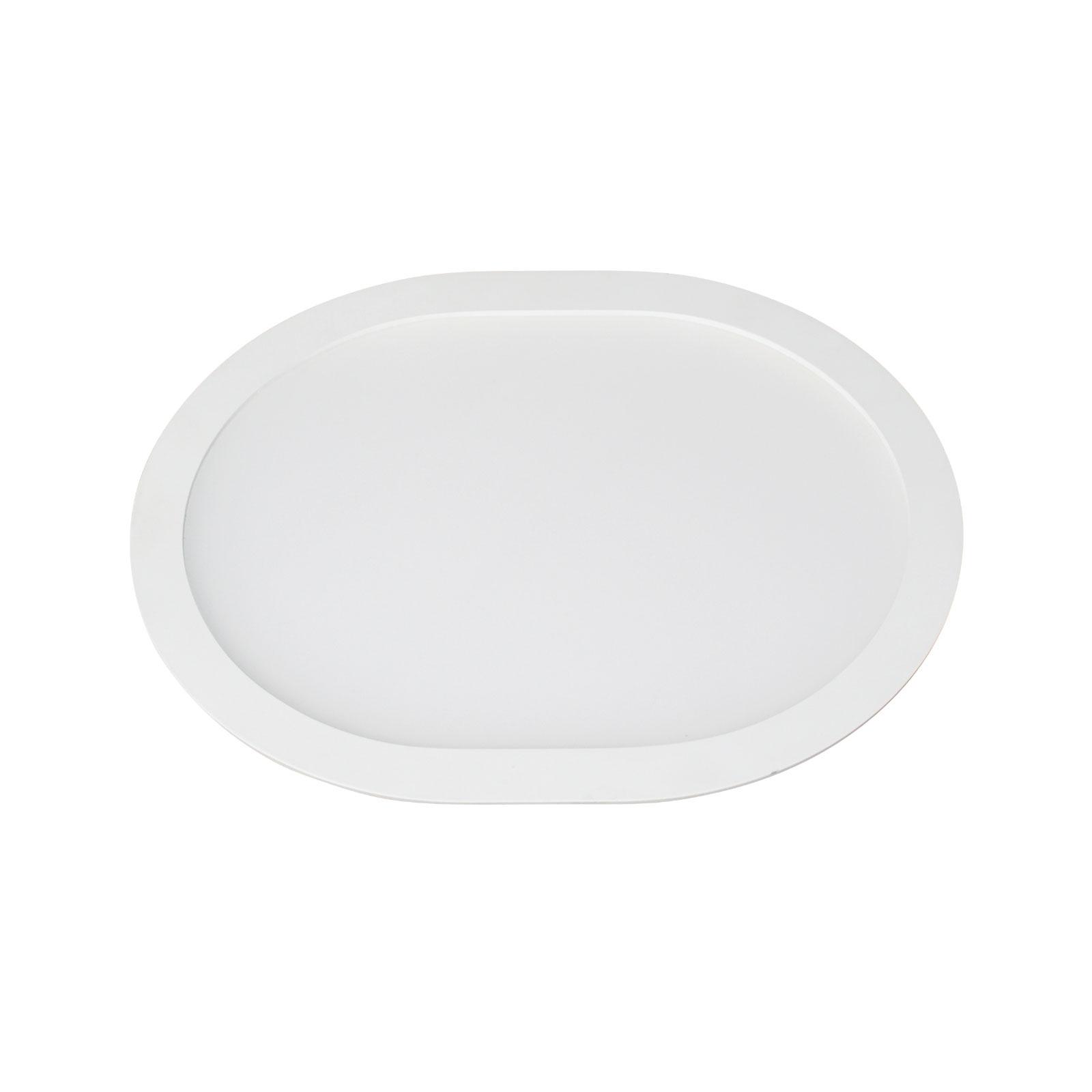 LED-uppopaneeli Ovale, 4 500 K, 18 cm x 15 cm