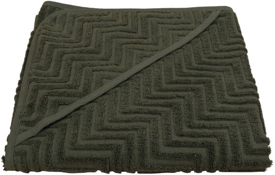 FILIBABBA Badehåndkle Zigzag, Dark Green