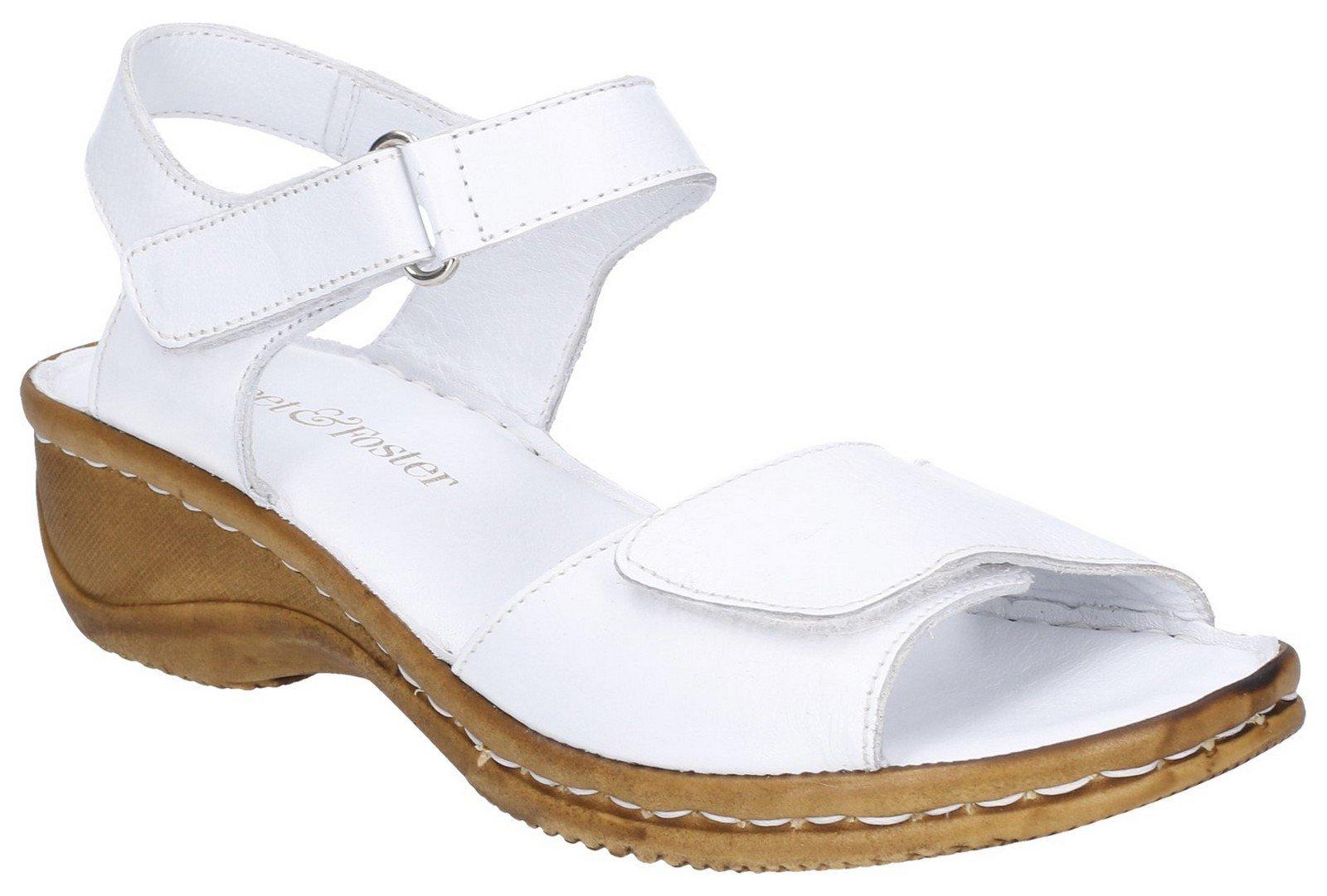 Fleet & Foster Women's Linden Touch Sandal Various Colours 28274 - White 8