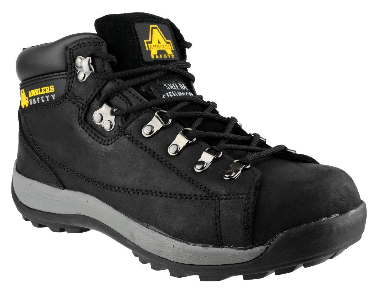 Amblers Unisex Safety Hardwearing Lace up Boot Black 13719 - Black 11