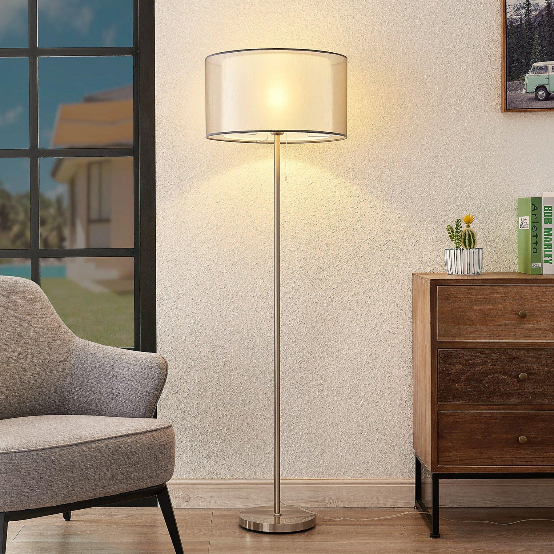 Lindby Taxima, gulvlampe, grå