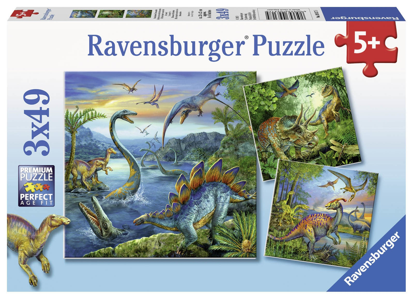 Ravensburger Pussel Dinosaurie 3x49 Bitar