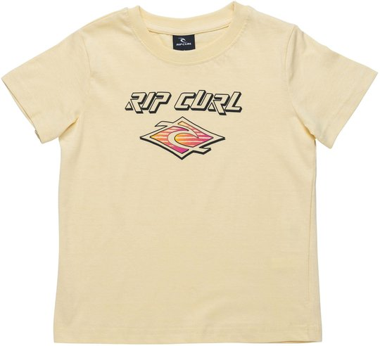Rip Curl Neon Slant And Donut T-Shirt, Pale Yellow 2 år