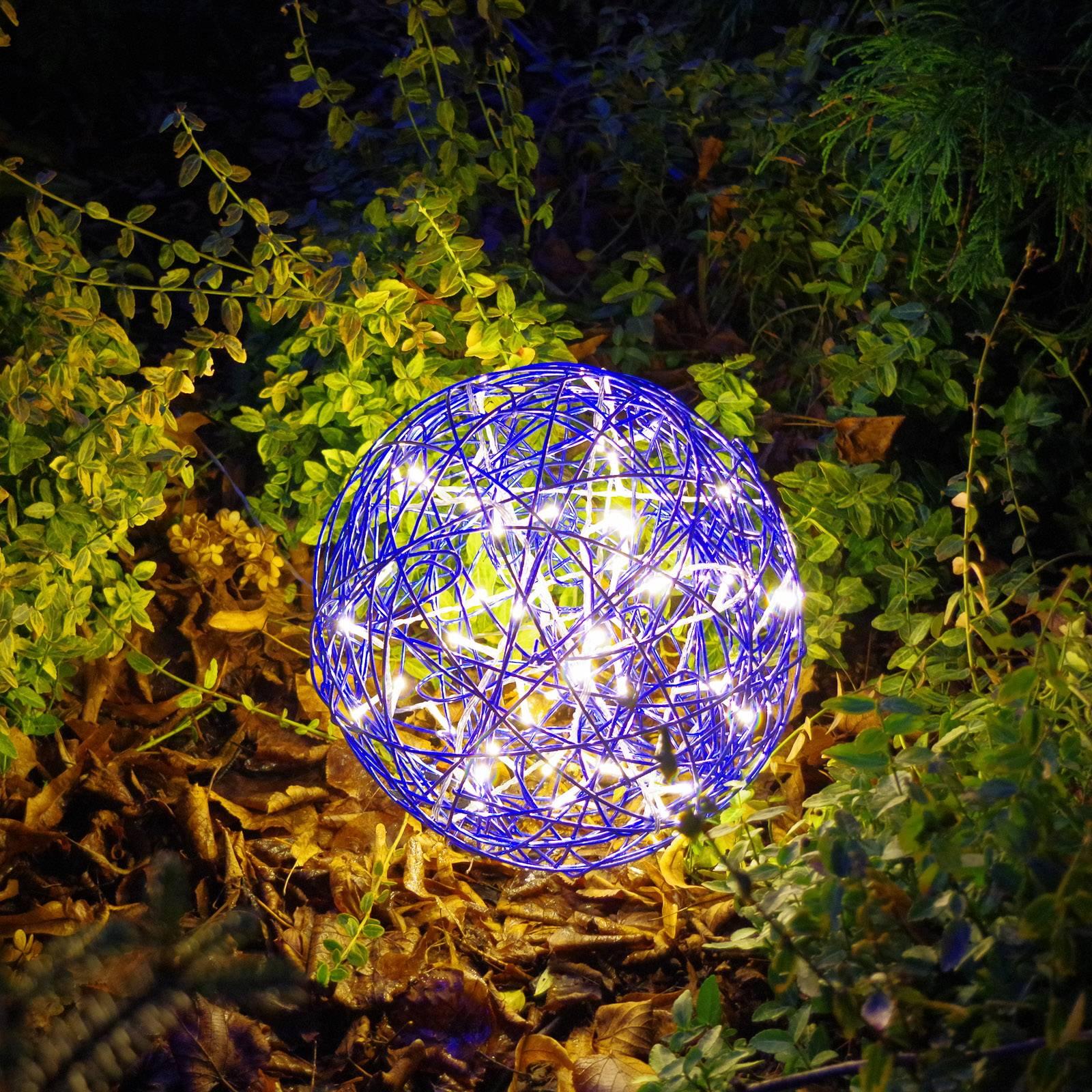 Galax Fun -LED-3D-design-pallo, Ø 30 cm, sininen