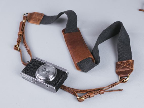 Canvas and Leather Camera Strap