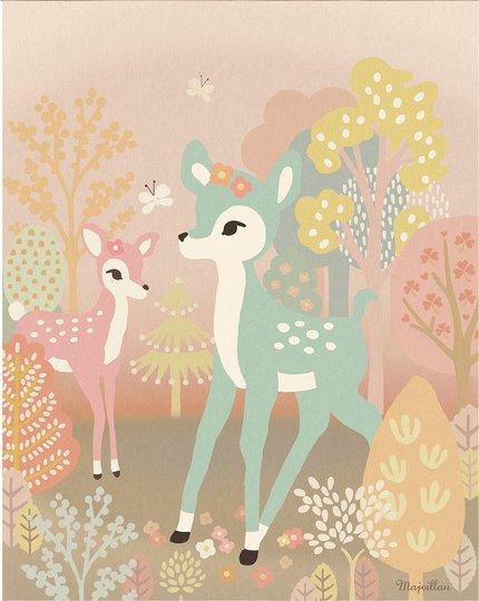 Majvillan Poster Bambi 40x50