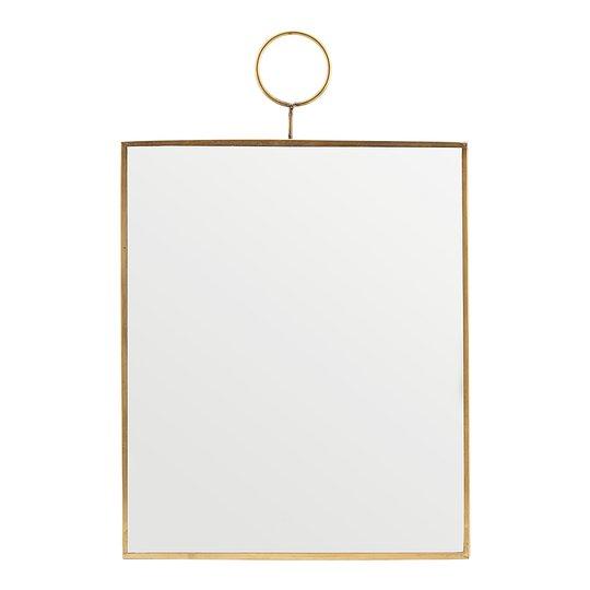 House Doctor - Loop Spegel Mässing 25x30 cm