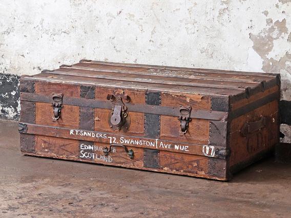 Old Storage Travel Trunk Brown