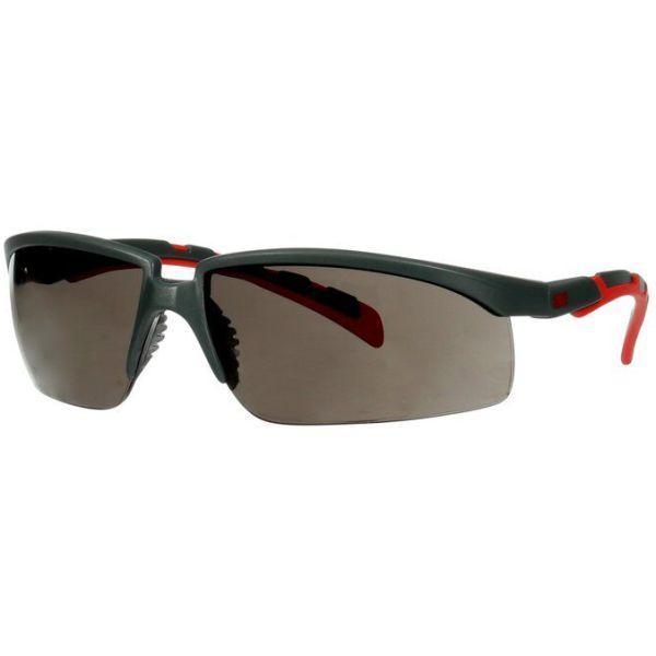 3M Solus 2000 Vernebriller Grå/rød brillestang, grå linse