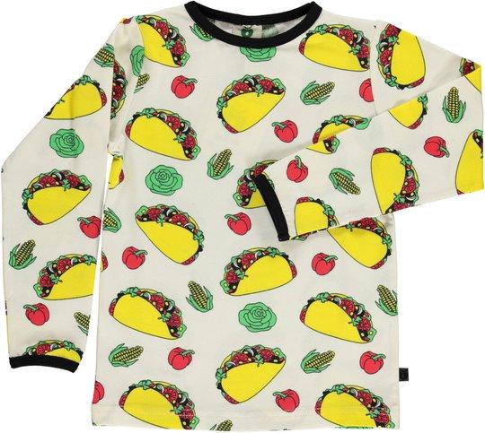 Småfolk Taco T-Shirt, Cream 2-3år