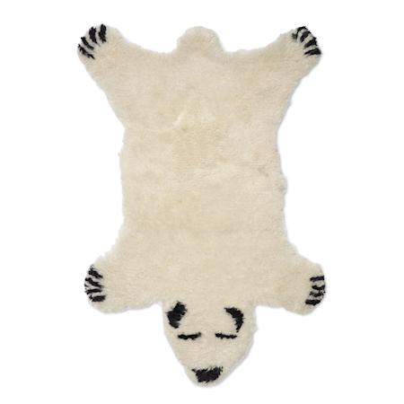 Dyreteppe Fluffy Bear Hvit 60x90 cm