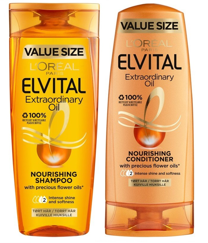 L'Oréal - Elvital Extraordinary Oil Shampoo 500 ml + Conditioner 400 ml