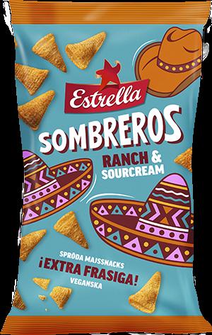 Estrella Sombreros Ranch & Sourcream 125g