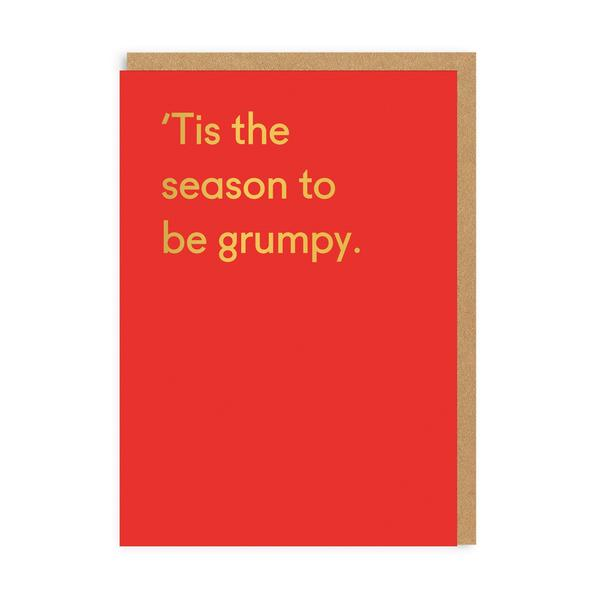 'Tis The Season Grumpy Christmas Card