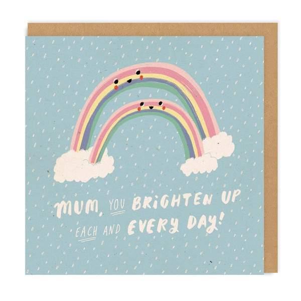 Mum Rainbow Square Greeting Card
