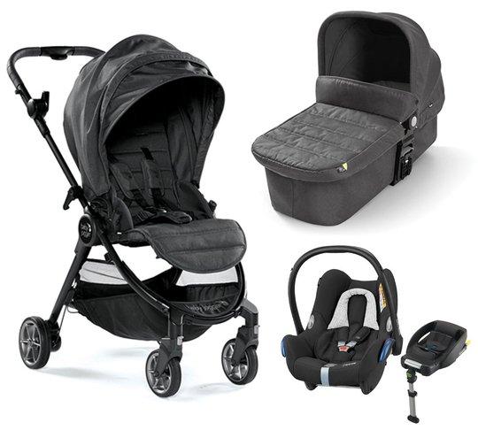 Baby Jogger City Tour Lux Duovogn, Granite + Maxi-Cosi Cabriofix Travelsystem