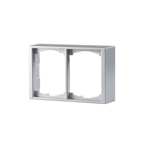 ABB Impressivo Korotuskehys 2-osainen, alumiini 2-paikkainen