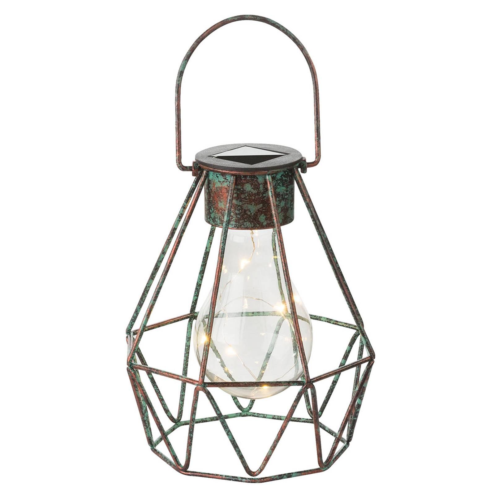 LED-koristevalo Cage, aurinkokäyttöinen