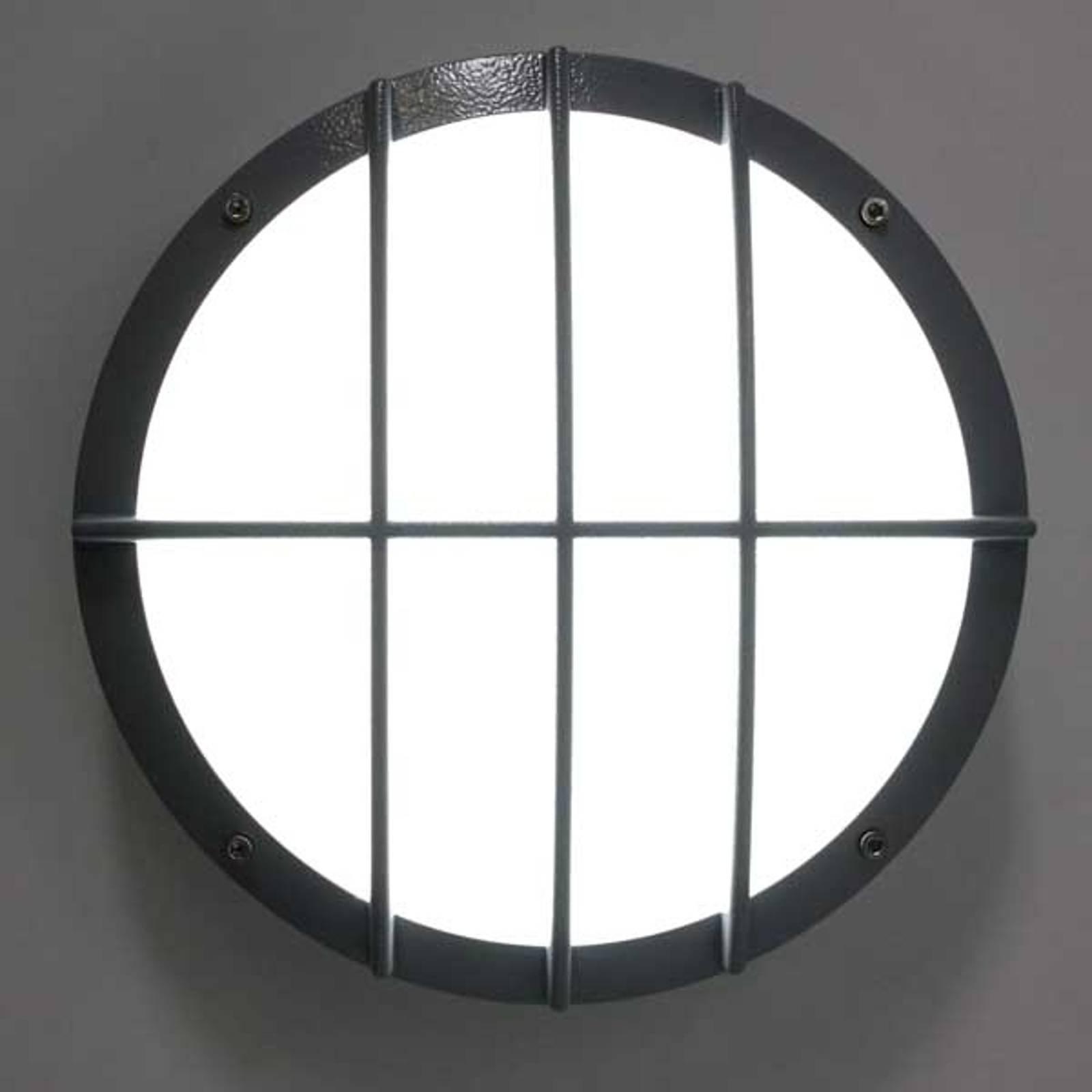 SUN 8 LED-veggl. i trykkstøpt alum. m. sen. 13W 3K