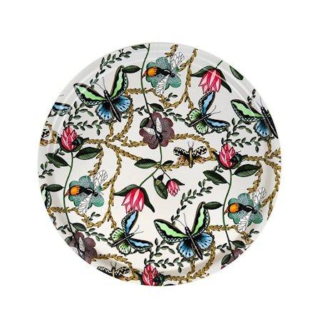 Nadja Wedin Design Brett 46 cm Bugs & Butterflies Offwhite