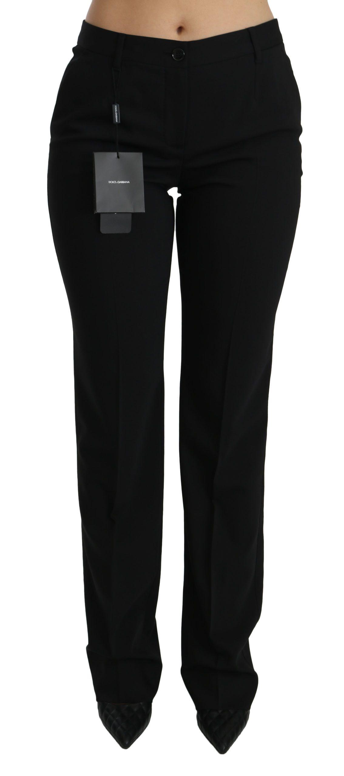 Dolce & Gabbana Women's Mid Waist Skinny Formal Trouser Black PAN70856 - IT40 S