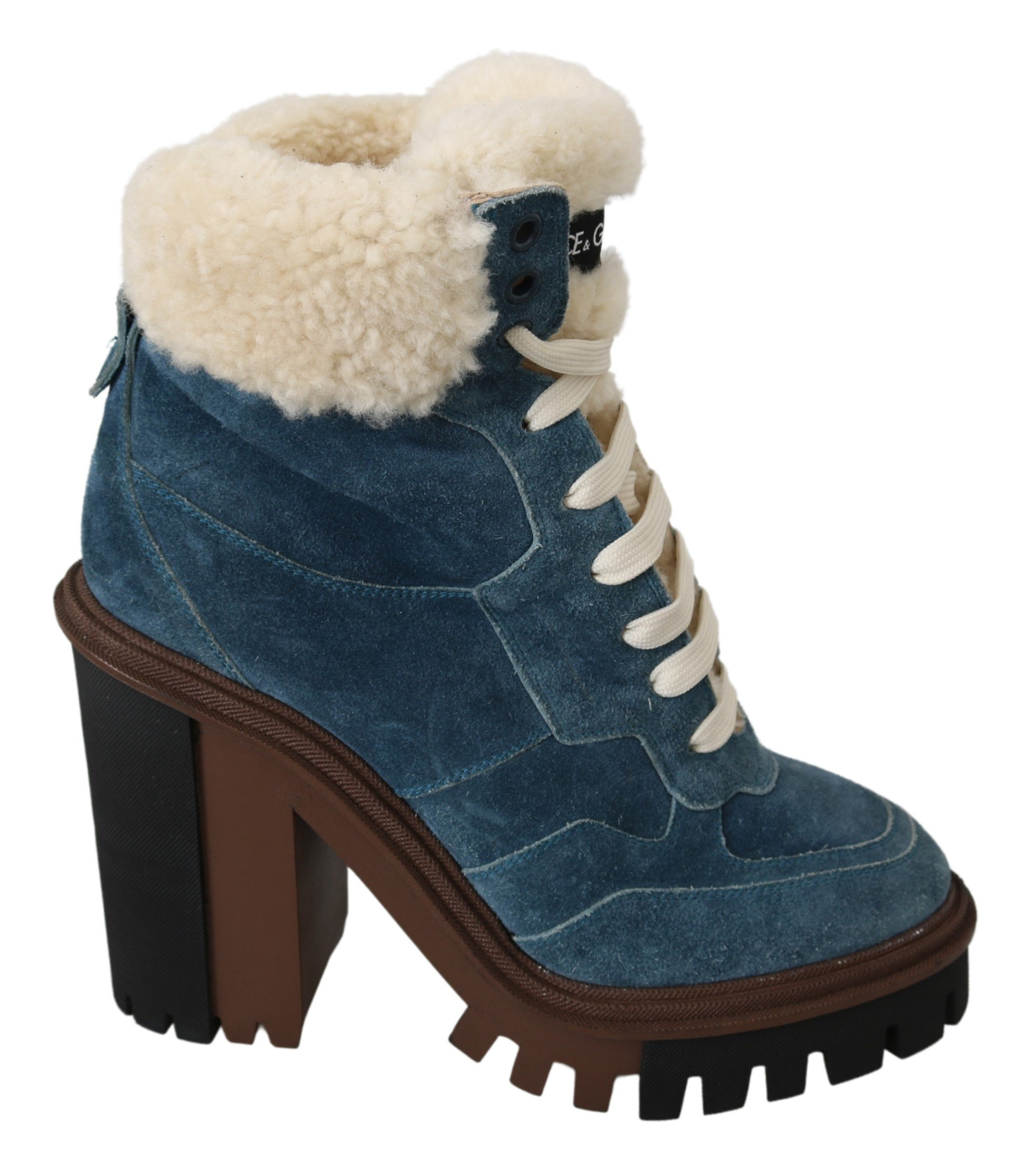 Dolce & Gabbana Women's Fur Shearling Ankle High Boot LA7062 - EU39/US8.5