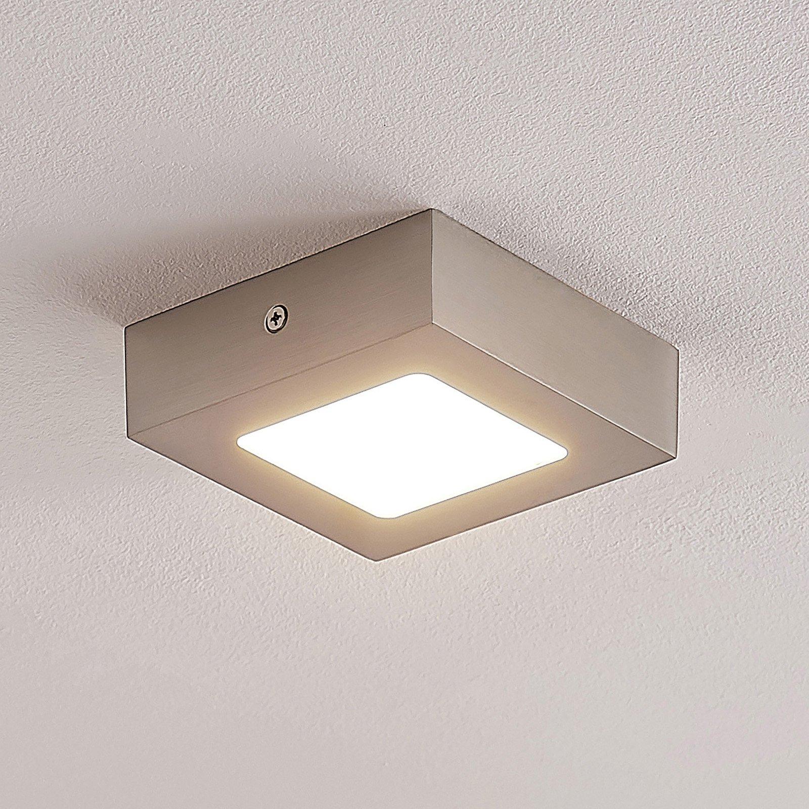ELC Merina LED-downlight, nikkel 12x12