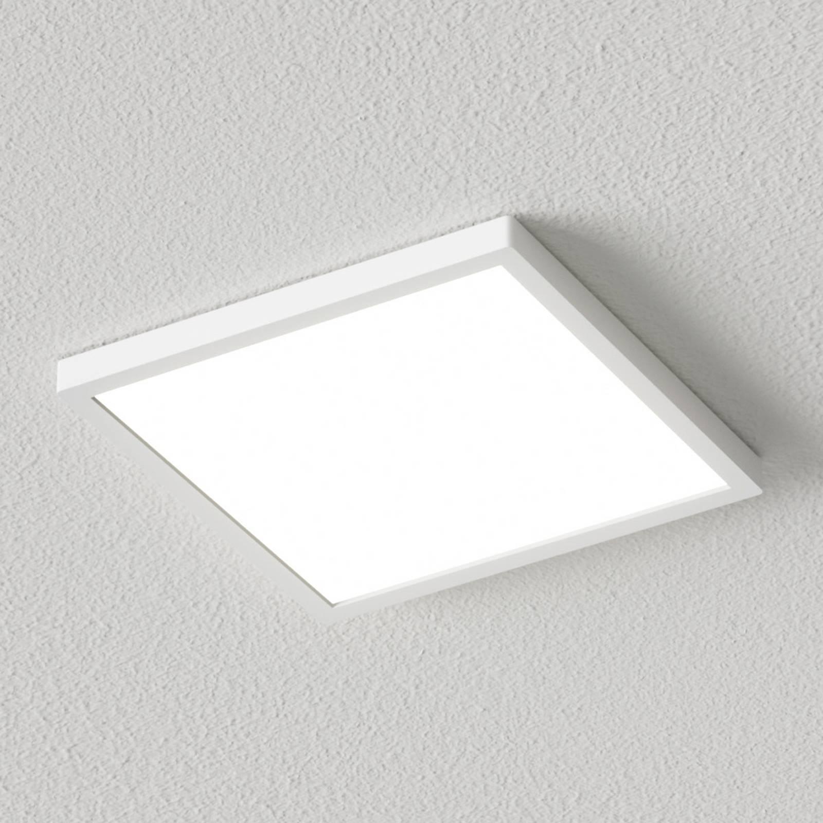 Valkoinen kulmikas LED-kattovalaisin Solvie