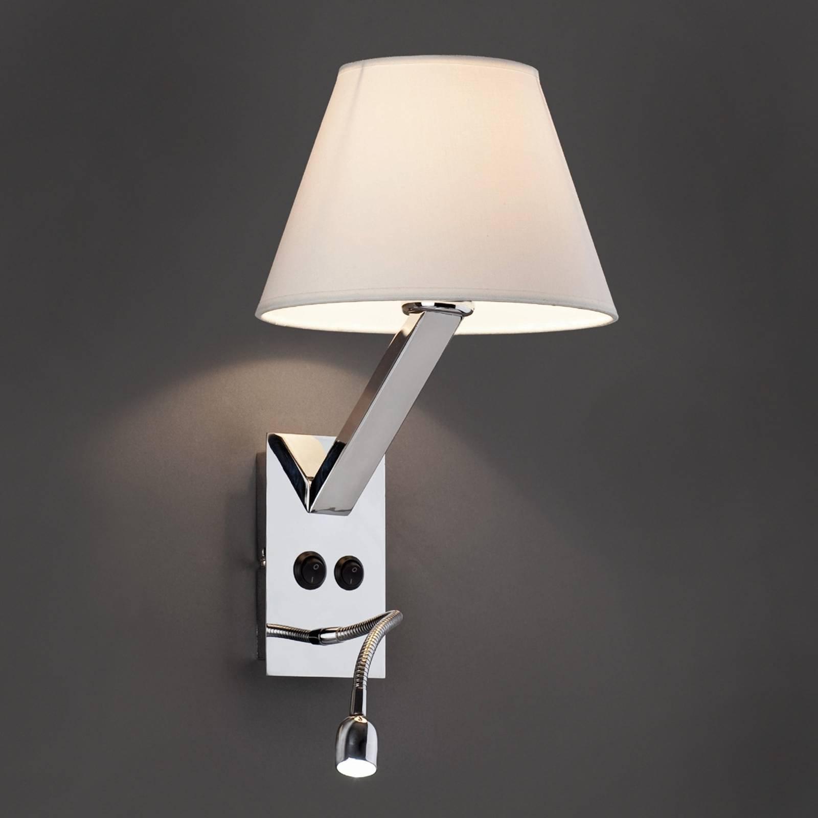 Fleksible Moma-2 LED-vegglampe i hvitt