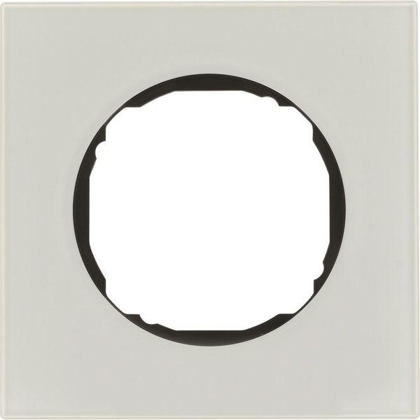 Hager 10112609 Peitekehys R.8, lasi, valkoinen 1-paikkainen