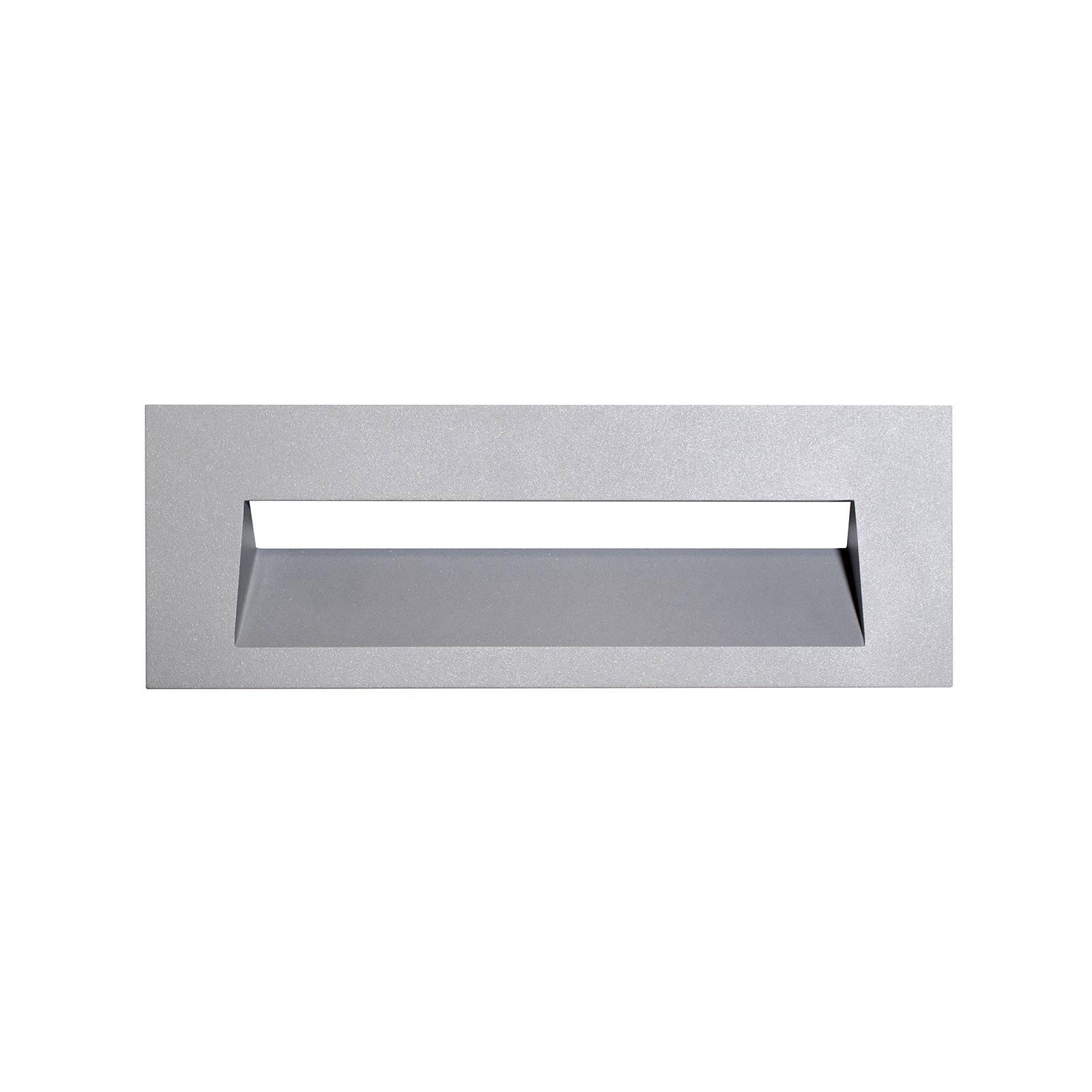 Arcchio Javis LED-innfellingslampe, glatt, sølv