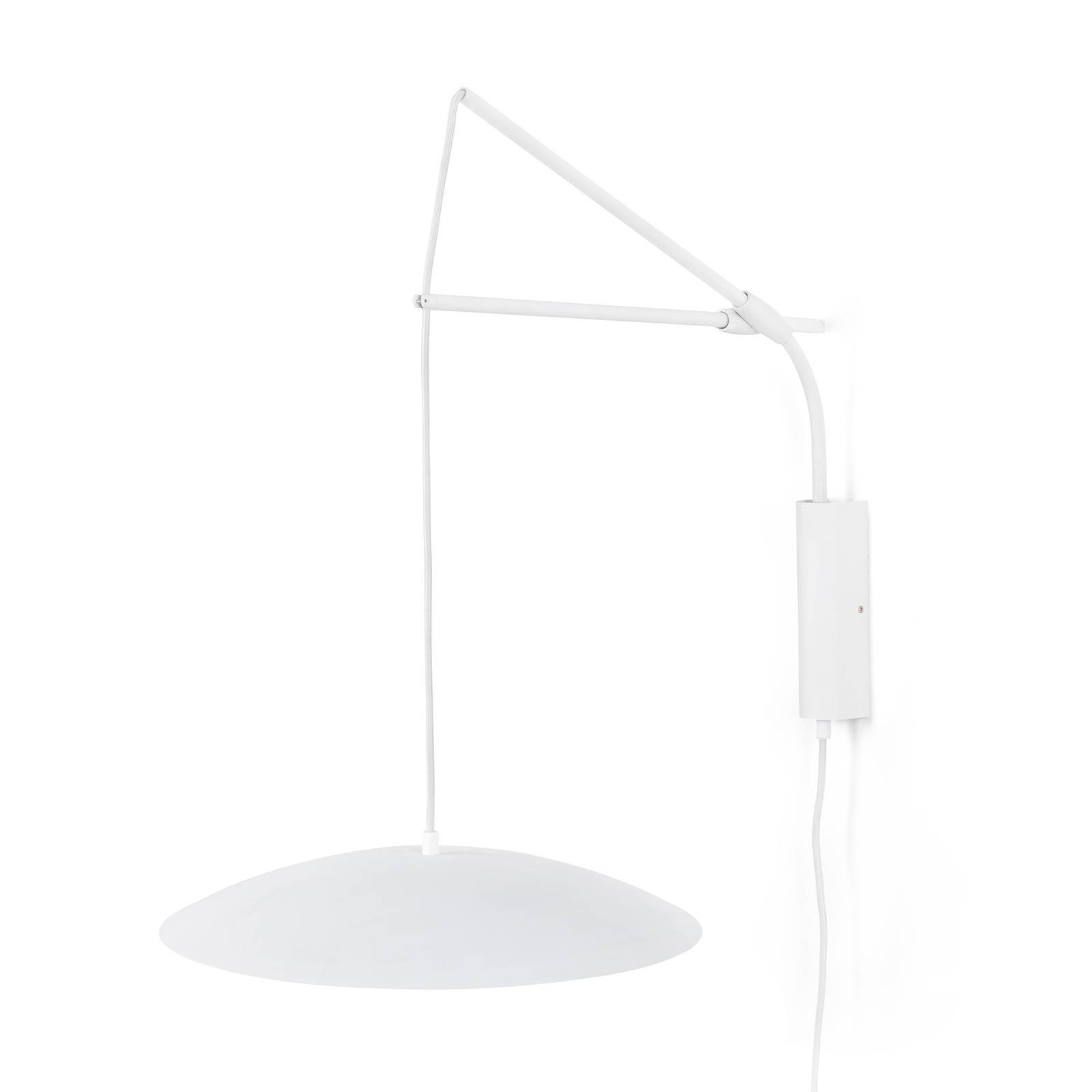 LED-vegglampe Slim med plugg, hvit