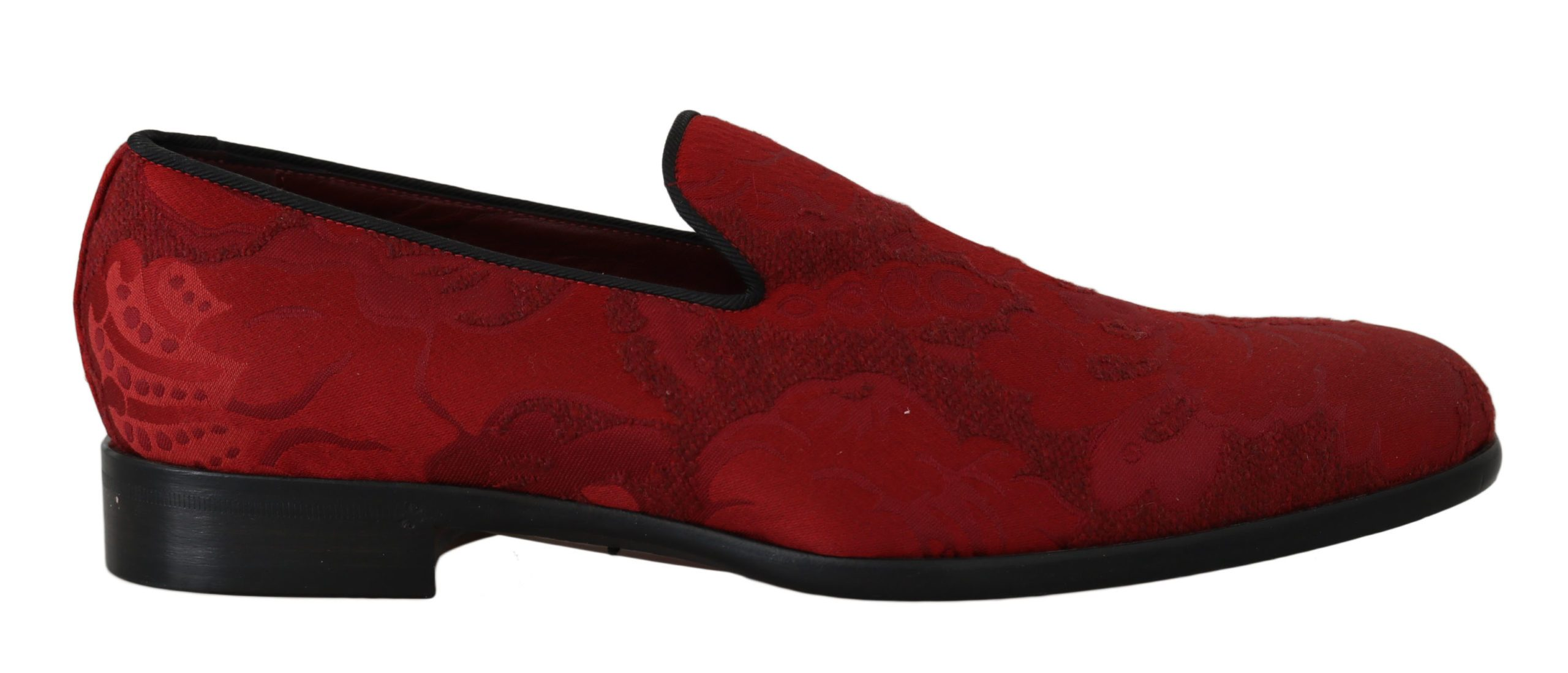 Dolce & Gabbana Men's Jacquard Loafers Dress Formal Shoes Red MV2266 - EU39/US6