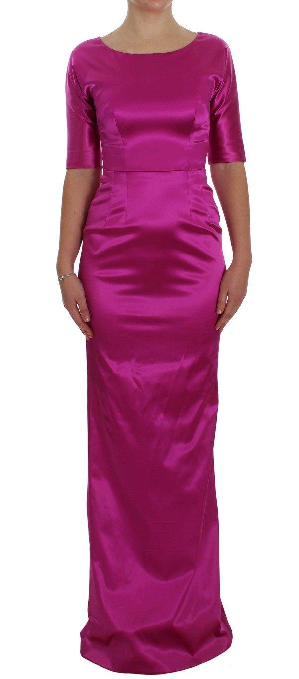 Dolce & Gabbana Women's Stretch Long Sheath Ball Gown Dress Pink NOC10146 - IT40|S