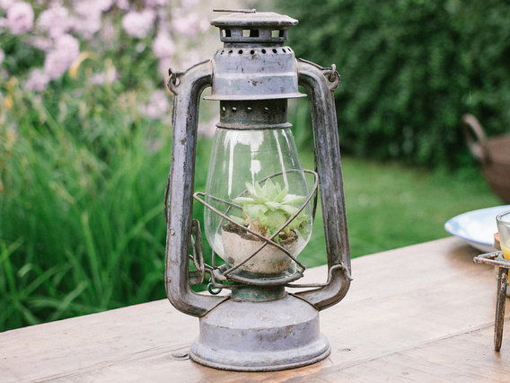Old Storm Lamp - Green Green