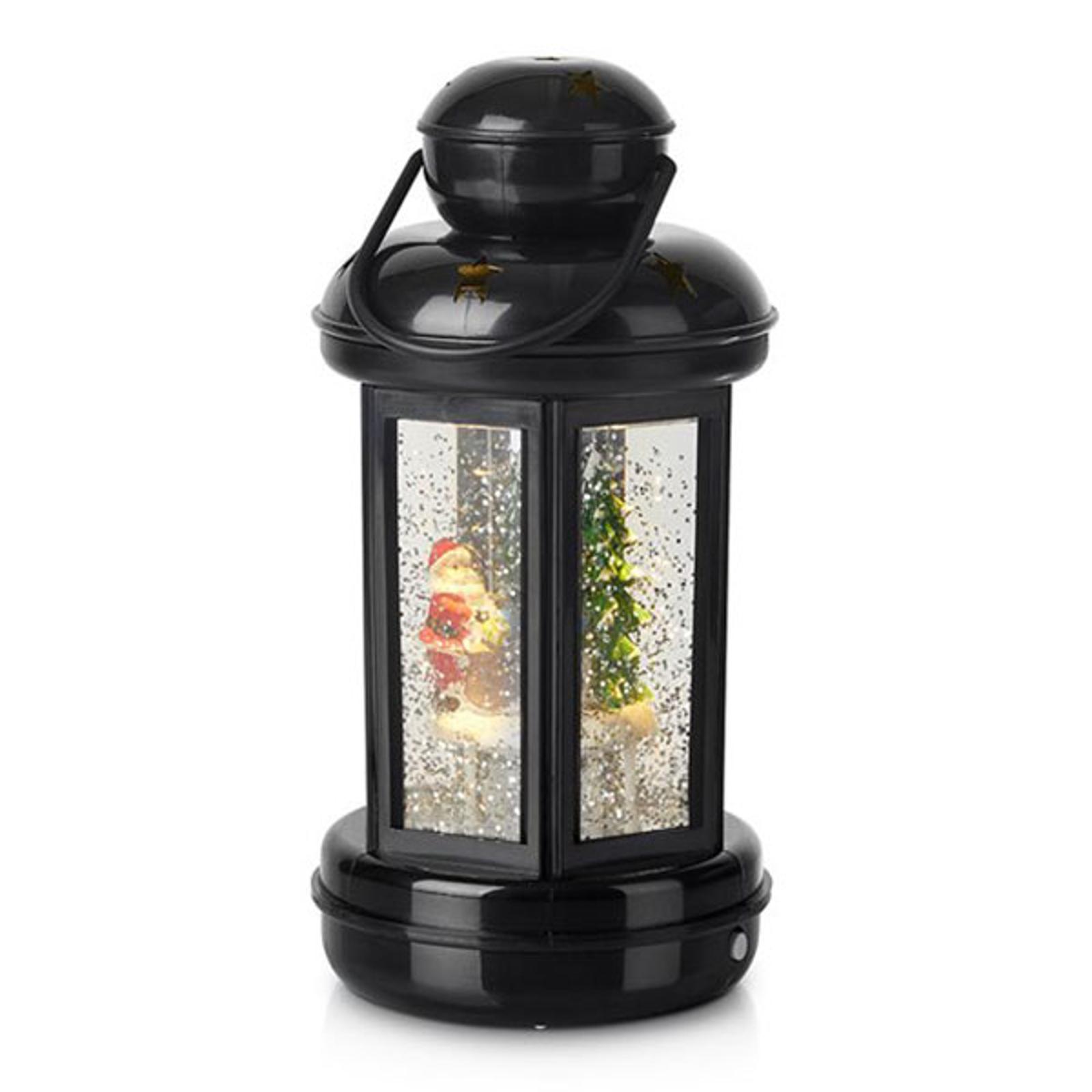 KImalteiden täyttämä koristelyhty Cosy LED, musta