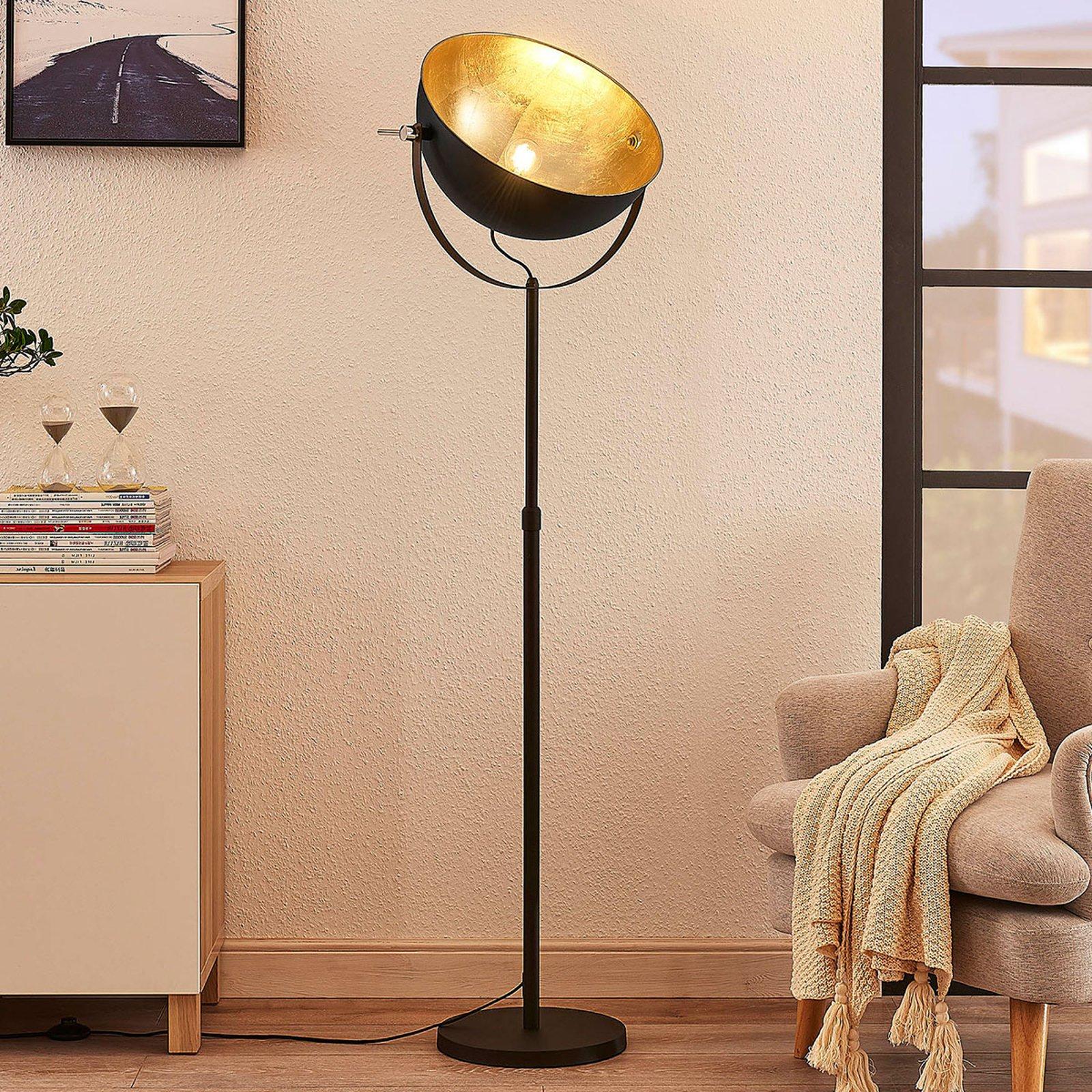 Gulvlampe Muriel 1 lyskilde svart/gull