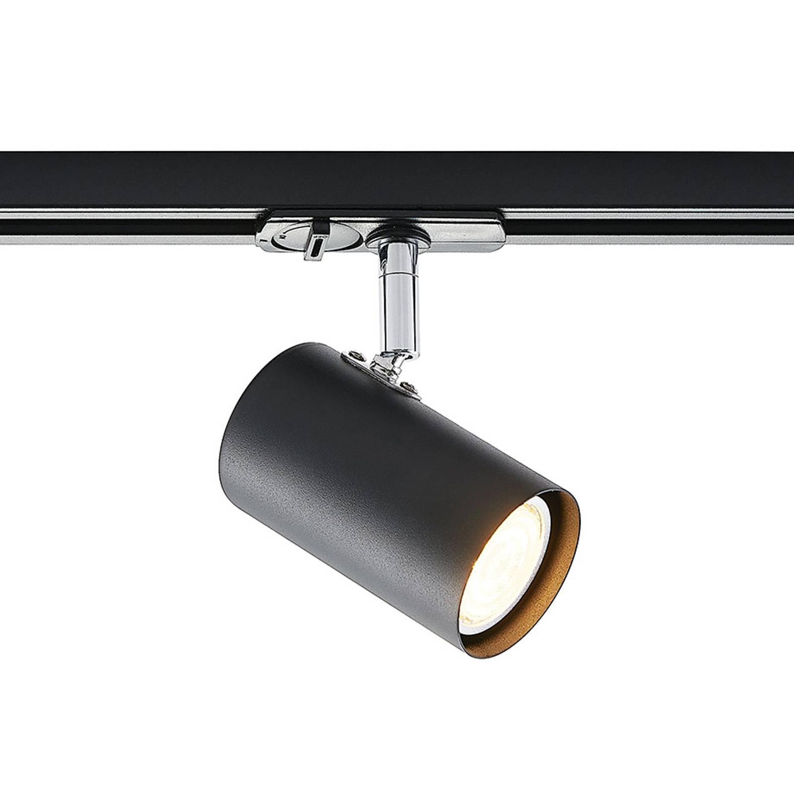 Lindby Ties -LED-kiskokohdevalaisin, 1-vaihe musta
