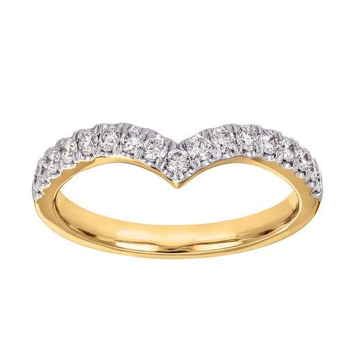 Diamantring 18K guld, 16.5