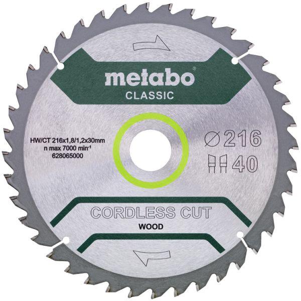 Metabo 628065000 Sahanterä 216x30 mm, 40T