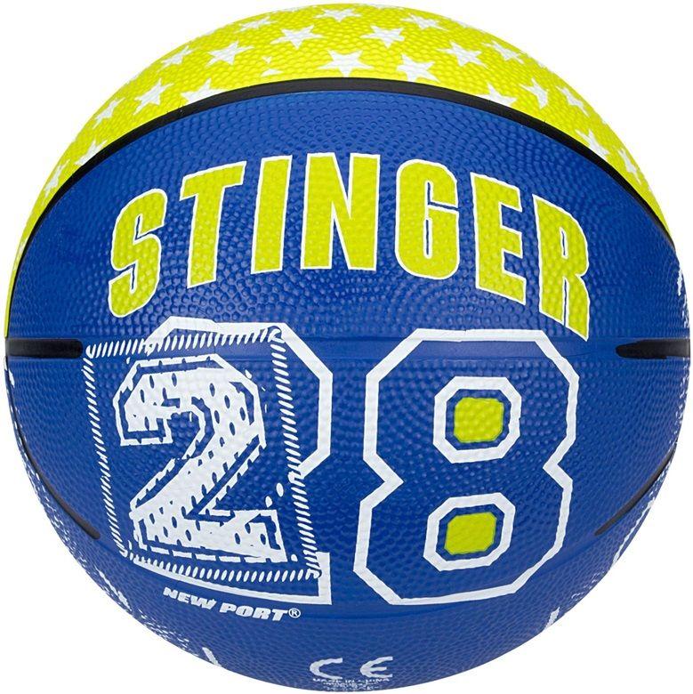 New Port Basketboll Storlek 3, Blå/Gul