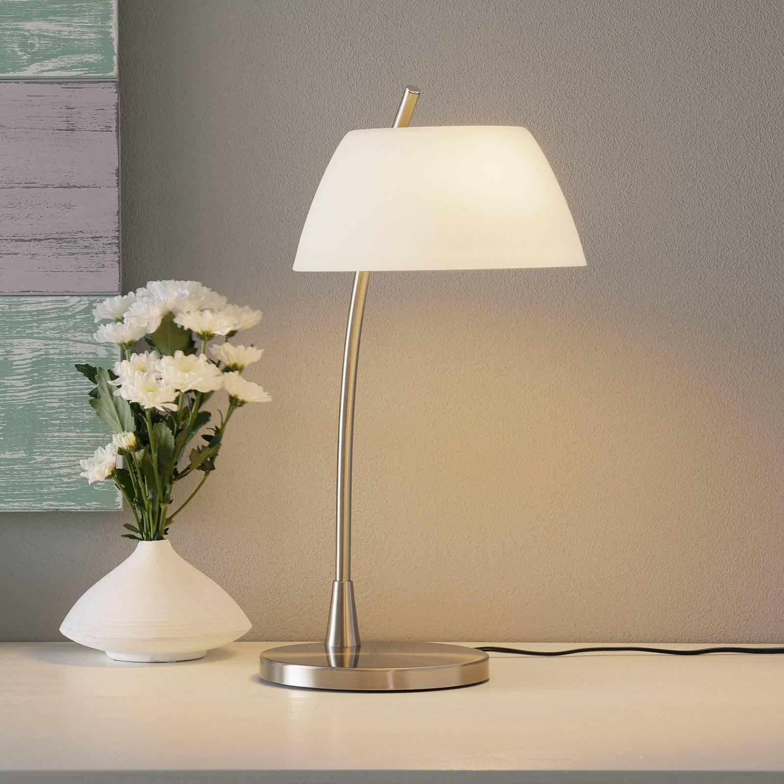 Forniklet bordlampe Malmø, nikkel
