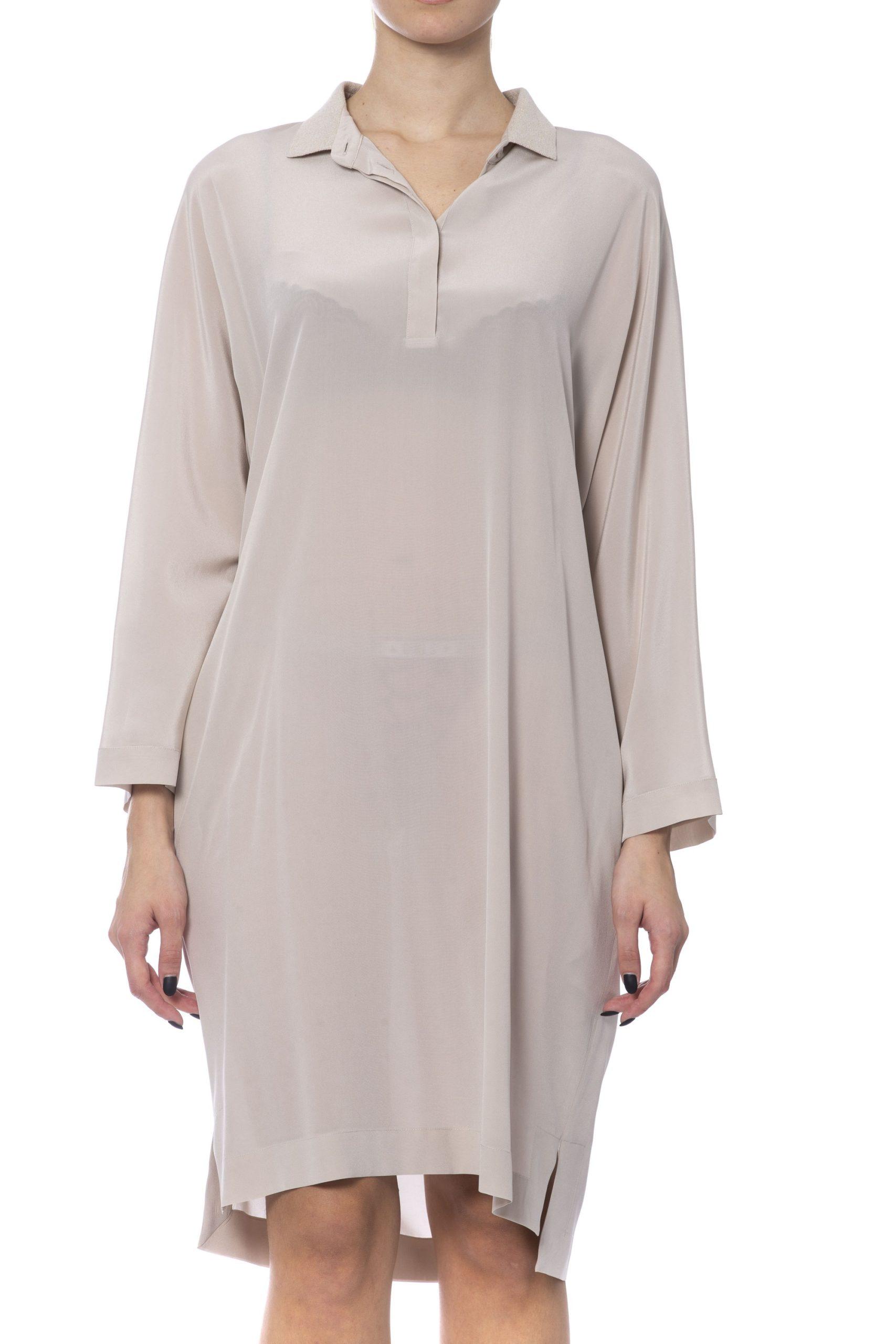 Peserico Women's Dress Beige PE993486 - IT42   S